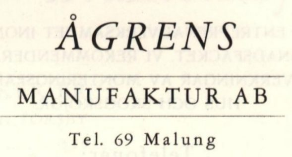 Ågrens_manufaktur_logo