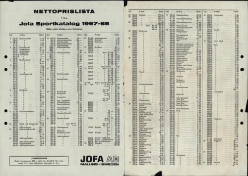 JOFA_Huvudkatalog 1967-68 nettoprislista 0069