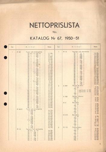 JOFA_Huvudkatalog 1950 prislista 0669
