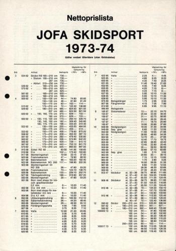 JOFA Volvo Alpint sportkatalog 1973-74 0098