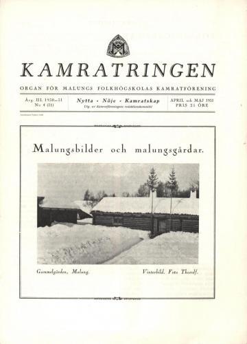Folkhögskolan Kamratringen 1931-4