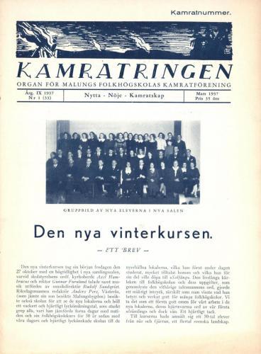Folkhögskolan Kamratringen 1937-1