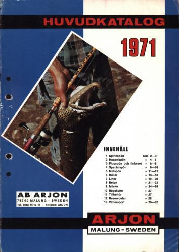 Arjon Huvudkatalog 1971 Blad 01