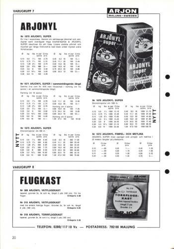 Arjon Huvudkatalog 1971 Blad 20