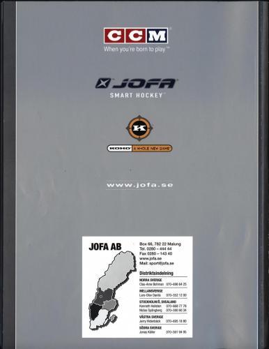 Ccm jofa koho hockeyutrustning 2002 Blad50