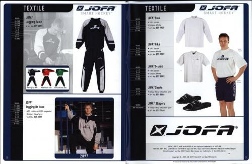 JOFA smart 2001 ice hockey eqipm 16