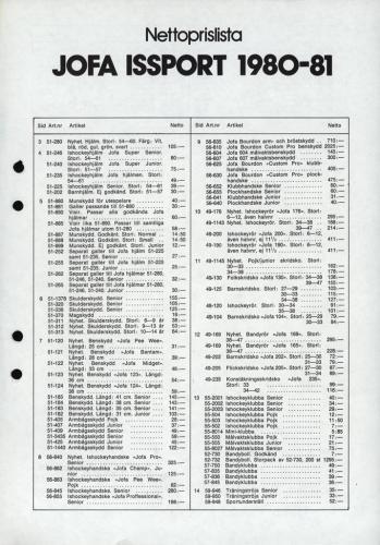 Jofa Issport 80-81 nettoprislista 01