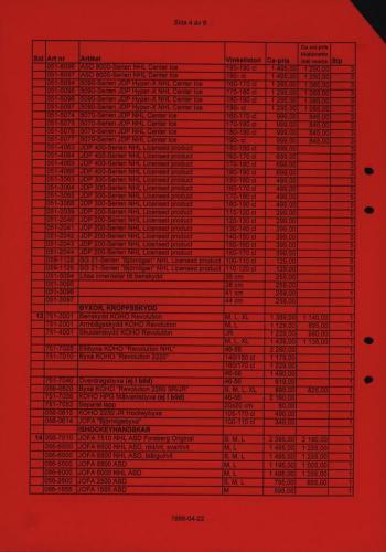 Jofa Rosa pantern prislista produktkatalog 1998-99 Blad04
