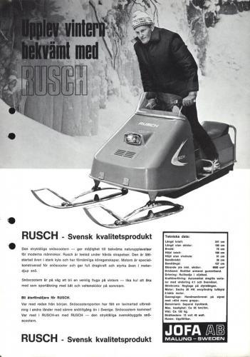 Jofa Rusch Snöskoter