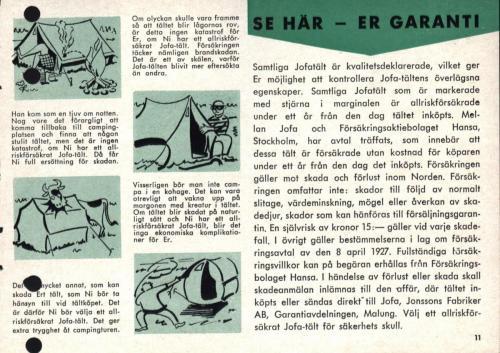 Jofa campingguide 1962 Blad11
