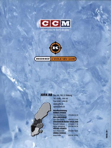 Jofa ccm koho malvaktsutrustning 2003 Blad19