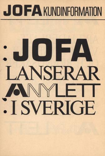 Jofa lanserar Anylett 01