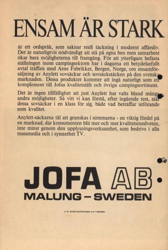 Jofa lanserar Anylett 05