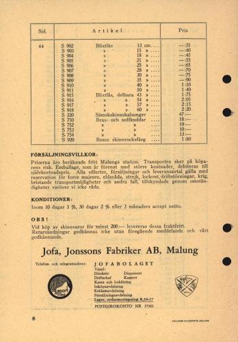 Jofa prislista katalog 39 blad05