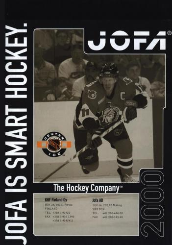 Jofa smart hockey equipment 2000 Blad13