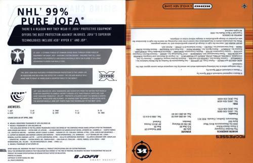 Jofa smart hockey equipment guide 2003 Blad18