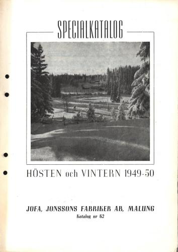 Jofa specialkatalog 1949-50 blad 01