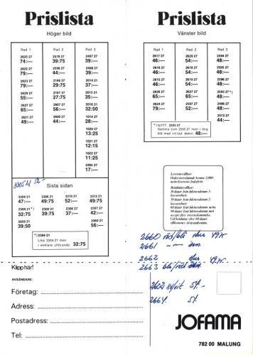 Jofama Sporthandskar 81-82 Prislista Sid03