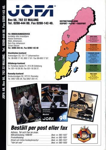 Koho, Titan, Canadien, Heaton, Jofa 1998 Blad15