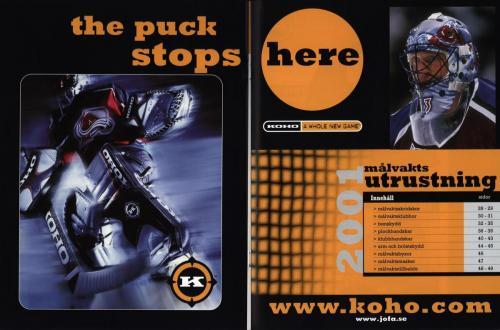 Koho hockeyutrustning 2001 Blad15