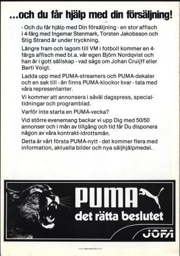Puma reklamblad med alpina landslaget 03