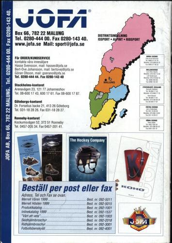 The hockey company JOFA 1999 Blad23