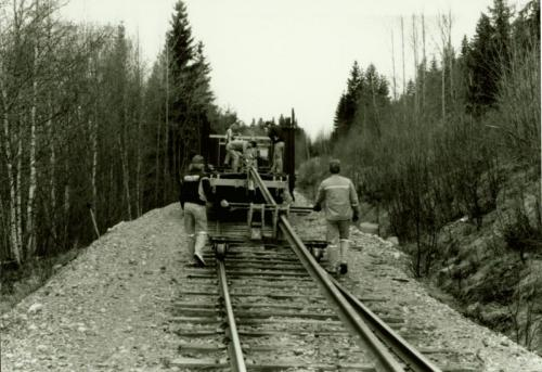1988 Rälsbyte. Vid Lugnet2
