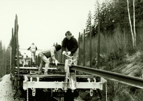 1988 Rälsbyte. Vid Lugnet3
