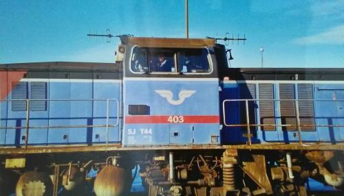 20000317 Sista tåget från virkesterminalen Malungsfors 3