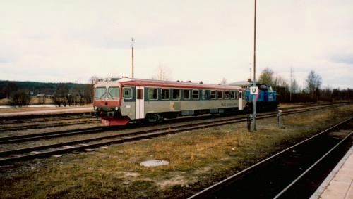 Bogsering av motorvagn som havererat Motorvagn Y1 Tåg i Bergslagen