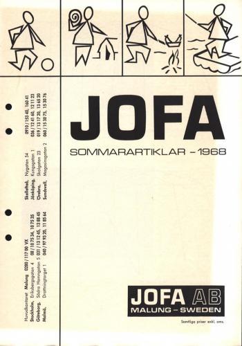 JOFA Oskar Camping Jofa sommaren 1968 0501
