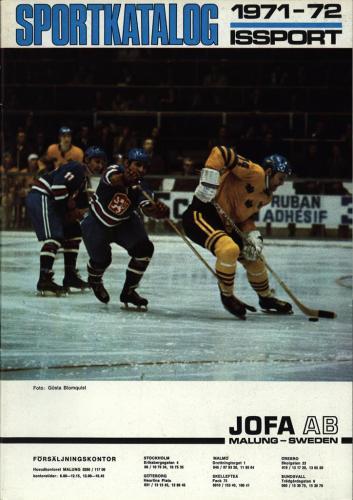 JOFA Oskar Hockey jofa sportkatalog 1971-72 Issport 0079