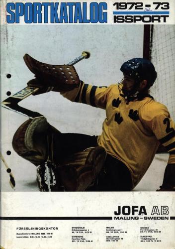 JOFA Oskar Hockey jofa sportkatalog 1972-73 Issport 0087