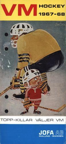 JOFA Oskar Hockey Jofa VM hockey 1967-68 0509