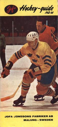 JOFA Oskar Hockey 1963 hockeyguide 0662