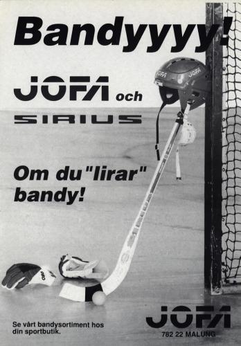 JOFA Volvo Bandy Annonser & diverse 0004