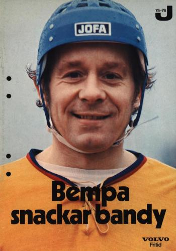 JOFA Volvo Bandy Bempa snacka bandy Jofa 75-76 0106