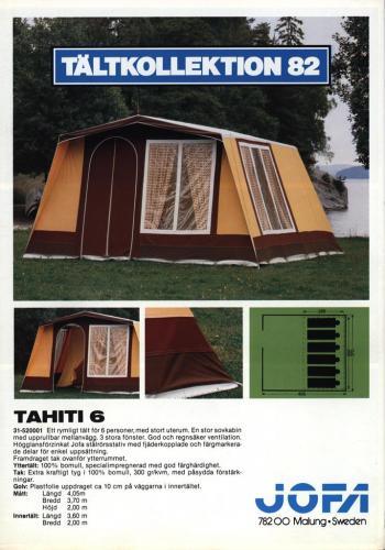 JOFA Volvo Camping & Tält Jofa tältkollektion 82 0035