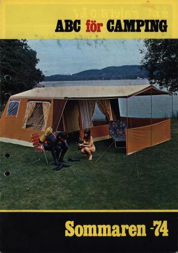 JOFA Volvo Camping & Tält ABC för camping sommaren 74 0102