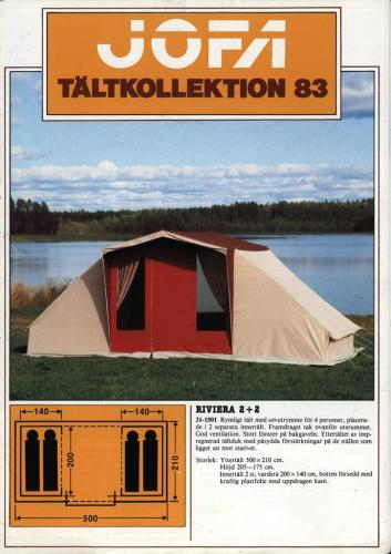 JOFA Volvo Camping & Tält Jofa Tältkollektion 83 0171