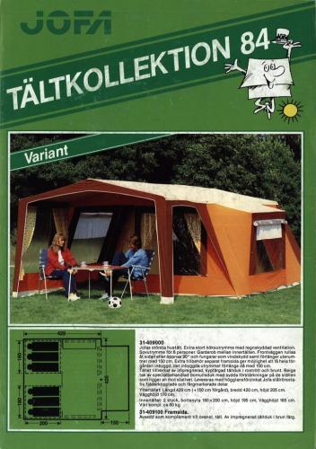 JOFA Volvo Camping & Tält Jofa Tältkollektion 84 0177