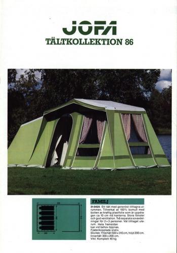 JOFA Volvo Camping & Tält Jofa tältkollektion 86 0190