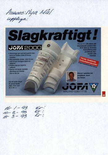 JOFA Volvo Fotboll Annonser 0004