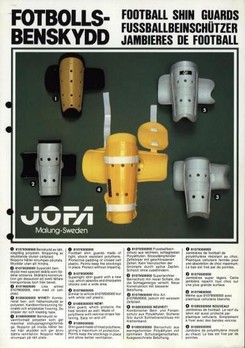 JOFA Volvo Fotboll Jofa fotbollsbenskydd 0189