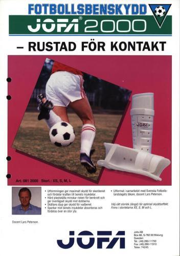 JOFA Volvo Fotboll Jofa 2000 fotbollsbenskydd 0221