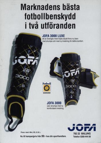 JOFA Volvo Fotboll Jofa fotbollsbenskydd 0265