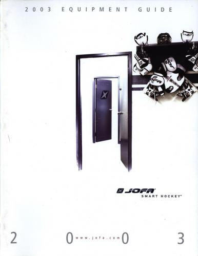 JOFA Volvo Hockey Jofa smart hockey equipment guide 2003 0008