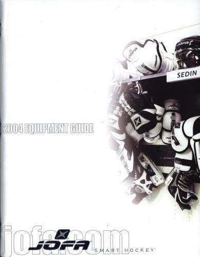 JOFA Volvo Hockey JOFA smart hockey 2004 equipment guide 0016