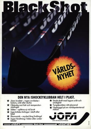 JOFA Volvo Hockey Jofa black shot 0183
