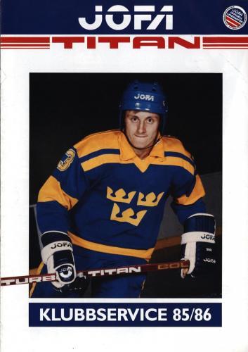 JOFA Volvo Hockey Jofa klubbservice 85-86 0184